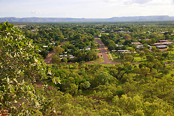 The view over Kununurra from Kelly's Knob.