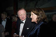 ANDREW PARKER BOWLES AND MRS. Anthony Oppenheimer, Cartier Dinner to celebrate the re-opening of the Cartier U.K. flagship store, New Bond St. Natural History Museum. 17 October 2007. -DO NOT ARCHIVE-© Copyright Photograph by Dafydd Jones. 248 Clapham Rd. London SW9 0PZ. Tel 0207 820 0771. www.dafjones.com.