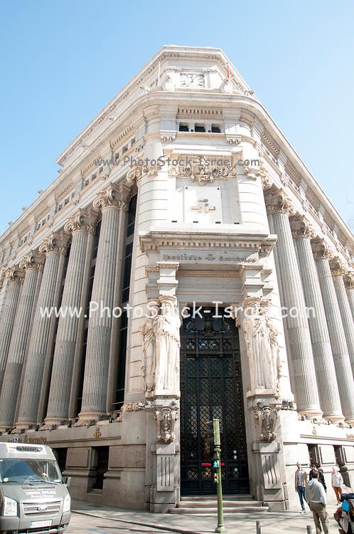 Facade of Cervantes Institute Madrid, Spain