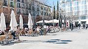 Alfresco dining, Plaza Santa Ana, Madrid, Spain