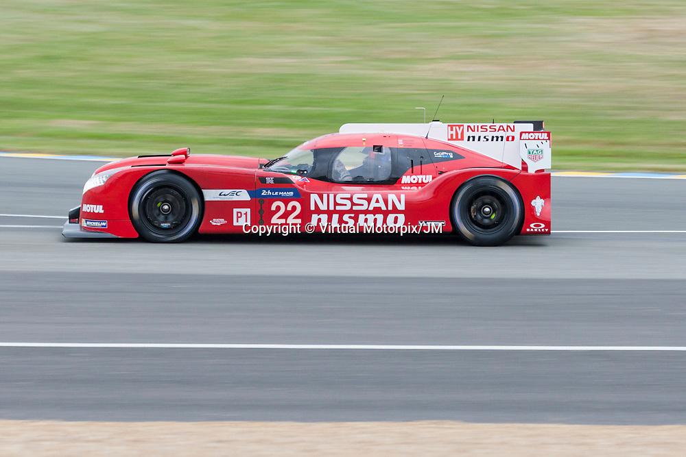 #22, Nissan GT-R LM NISMO, Nissan Motorsports driven by Harry Tincknell, Michael Krumm, Alex Buncombe,<br /> Le Mans 24hr 2015, Test