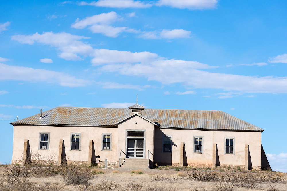 Old schoolhouse in Lake Valley, a historic ghost town in New Mexico.