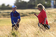 Conor Purcell (GB&I) during Day 1 Singles of the Walker Cup at Royal Liverpool Golf CLub, Hoylake, Cheshire, England. 07/09/2019.<br /> Picture: Thos Caffrey / Golffile.ie<br /> <br /> All photo usage must carry mandatory copyright credit (© Golffile | Thos Caffrey)