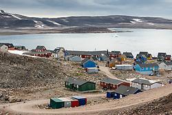 Ittoqqortoormiit village in Scoresby Sound, East-Greenland