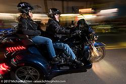 Riding Main Street during Daytona Beach Bike Week. FL. USA. Tuesday, March 14, 2017. Photography ©2017 Michael Lichter.