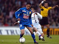 Fotball<br /> Frankrike 2003/04<br /> Lyon v Bastia<br /> 12. mai 2004<br /> Foto: Digitalsport<br /> NORWAY ONLY<br /> <br /> CHAOUKI BEN SAADA (BAS) / JUNINHO (LYON)