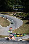 September 30-October 1, 2011: Petit Le Mans at Road Atlanta. 05 Jon Bennett, Frankie Montecalvo, Ryan Dalziel, Oreca FLM09, Core Autosport