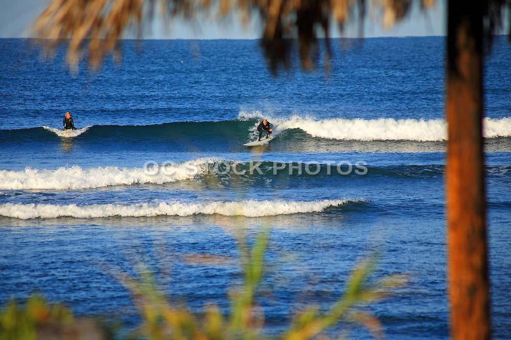 Surfing Waves At Old Man's In San Clemente