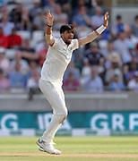 Bowler Ishant Sharma appeals as Adil Rashid is lbw during the first Test Match between England and India at Edgbaston, Birmingham. Photo: Graham Morris  / www.photosport.nz