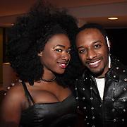 NLD/Bussum/20080305 - Harpen Gala 2008, Idols 2008 deelneemster Nathalie en ..........