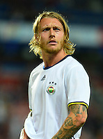Friendly Match between Sparta Prague and Fenerbahce  at General Arena in Prague , Czech Republic on July 19 , 2016.<br /> Final Score : Sparta Prague 0 - Fenerbahce 0<br /> Pictured: Simon Kjaer of Fenerbahce.