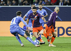 October 2, 2018 - Sinsheim, Germany - Sergio Aguero 10; seen in action during the UEFA Champions League group F football match between TSG 1899 Hoffenheim and Manchester City at the Rhein-Neckar-Arena. (Credit Image: © Elyxandro Cegarra/SOPA Images via ZUMA Wire)