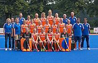 ARNHEM - Het Nederlands vrouwen hockeyteam voor de Olympische Spelen in London 2012. Nederland speelt donderdag een oefenwedstrijd tegen Zuid Afrika. FOTO KOEN SUYK
