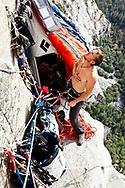 Tommy Caldwell and Kevin Jorgeson working on what may become the hardest free climb on El Cap and the world.  The team has been working on the route for over 3 years.