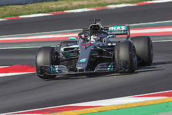 March 9, 2018 - Barcelona, Catalonia, Spain - Mercedes driver Lewis Hamilton (44) of Great Britain during the test of F1 celebrated at Circuit of Barcelonacon 9th March 2018 in Barcelona, Spain. (Credit Image: © Joan Valls/NurPhoto via ZUMA Press)