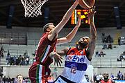 DESCRIZIONE : Final Eight Coppa Italia 2015 Desio Quarti di Finale Umana Reyer Venezia - Enel Brindisi<br /> GIOCATORE : Marcus Denmon Tomas Ress<br /> CATEGORIA : Tiro Penetrazione Stoppata<br /> SQUADRA : Enel Brindisi<br /> EVENTO : Final Eight Coppa Italia 2015 Desio<br /> GARA : Umana Reyer Venezia - Enel Brindisi<br /> DATA : 20/02/2015<br /> SPORT : Pallacanestro <br /> AUTORE : Agenzia Ciamillo-Castoria/L.Canu