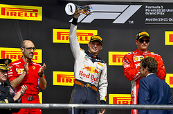 October 21, 2018 - Austin, United States - Motorsports: FIA Formula One World Championship; 2018; Grand Prix; United States, FORMULA 1 PIRELLI 2018 UNITED S GRAND PRIX , Circuit of The Americas#33 Max Verstappen (NDL, Red Bull Racing), #7 Kimi Raikkonen (FIN, Scuderia Ferrari) (Credit Image: © Hoch Zwei via ZUMA Wire)