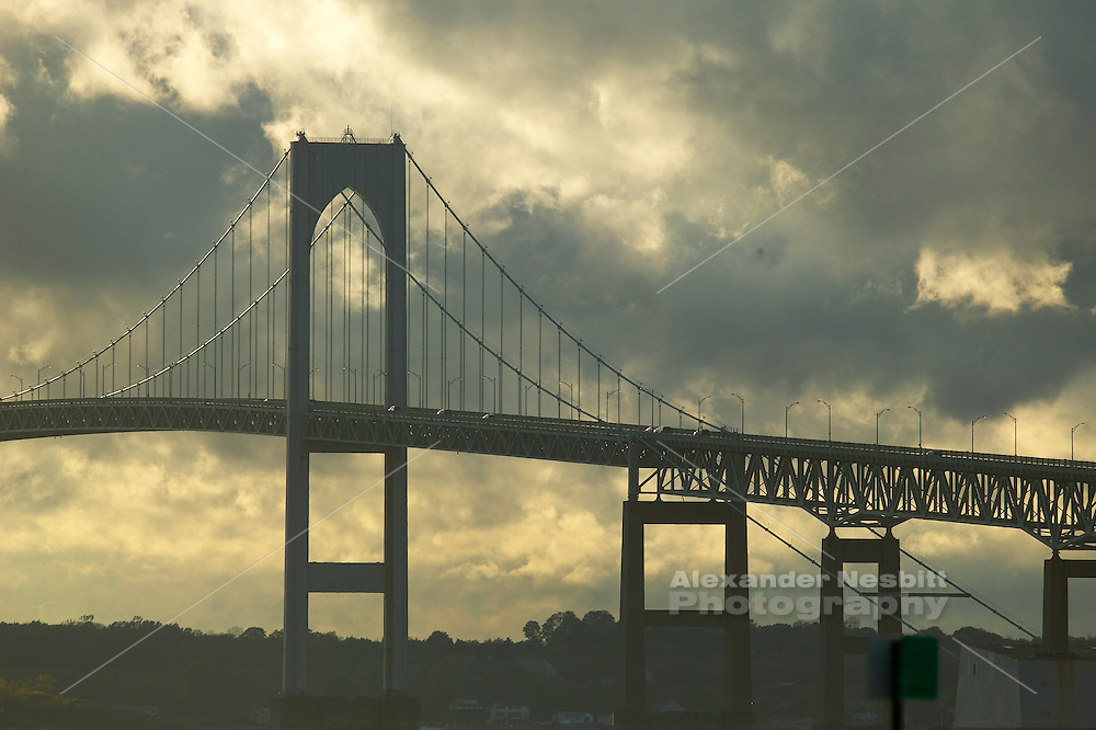 Newport, RI 2006 - newport bridge with dramatic light in clouds