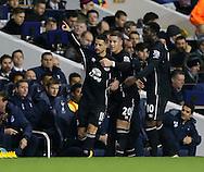 Everton's Kevin Mirallas celebrates scoring his sides opening goal<br /> <br /> Barclays Premier League- Tottenham Hotspur vs Everton - White Hart Lane - England - 30th November 2014 - Picture David Klein/Sportimage