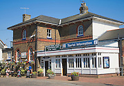 Railway station cafe and tourist information office, Woodbridge, Suffolk, England