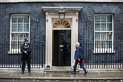 © Licensed to London News Pictures. 14/11/2017. London, UK. Secretary of State for Communities and Local Government Sajid Javid (R) arrives on Downing Street for the weekly Cabinet meeting. Photo credit: Rob Pinney/LNP