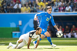 June 22, 2018 - Sankt Petersburg, Russia - 180622 Marcos Urena of Costa Rica and Fagner of Brazil during the FIFA World Cup group stage match between Brazil and Costa Rica on June 22, 2018 in Sankt Petersburg..Photo: Petter Arvidson / BILDBYRÃ…N / kod PA / 92075 (Credit Image: © Petter Arvidson/Bildbyran via ZUMA Press)