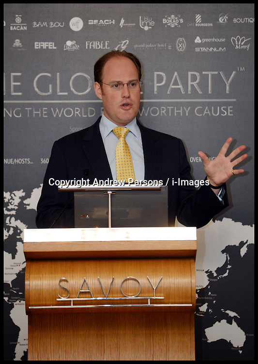 David Johnstone at the Launch of The Global Party, hold a press Conference to launch the Party at the Savoy Hotel in London where one of the parties will be held. The party consists of 360 Parties around the World on June 26, 2013, London, UK, Wednesday May 15, 2013. Photo by: Andrew Parsons / i-Images