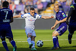 May 20, 2018 - France - Leandro Trossard forward of KRC Genk scores 0-1 ( but is rejected after VAR) during the Jupiler Pro League play off 1 match (Credit Image: © Panoramic via ZUMA Press)