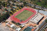 Belo Horizonte_MG, Brasil.<br /> <br /> Pista de atletismo no Centro Esportivo Universitario da UFMG (CEU) em Belo Horizonte, Minas Gerais.<br /> <br /> Athletics track in University Sports Centre of UFMG (CEU) in Belo Horizonte, Minas Gerais.<br /> <br /> Foto: RODRIGO LIMA / NITRO