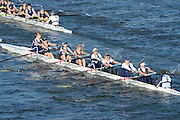 London, United Kingdom.Upper Thames RC. B Crew.  from Barnes Rail Bridge. 2014 Women's Head of the River Race. Chiswick to Putney, River Thames.  Saturday  15/03/2014    [Mandatory Credit; Peter Spurrier/Intersport-images]