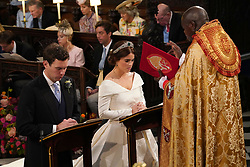 The Archbishop of York Dr John Sentamu during the wedding of Princess Eugenie to Jack Brooksbank at St George's Chapel in Windsor Castle.