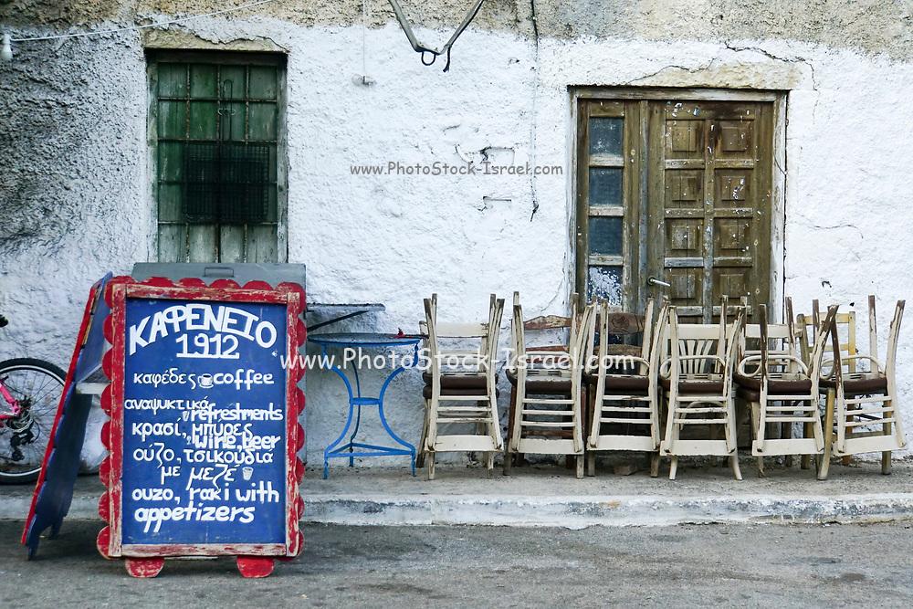 Outdoor cafe in Chania, Crete, Greece