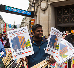 London, July 1st 2017. Anti-Tory protesters gather to march from the BBC's headquarters through the streets of London to Parliament in London following the Conservative Party's £1.5 billion deal with the DUP to enable a slim majority in the House of Commons. PICTURED: