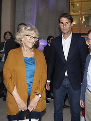 May 3, 2019 - Madrid, Spain - Manuela Carmena and Spanish tennis players Rafael Nadal to the party  presentation of the Mutua Madrid Open 2019, at the Prado Museum in Madrid, Spain, 03 May 2019. The Mutua Madrid Open runs from 3 until 12 May 2019. (Credit Image: © Oscar Gonzalez/NurPhoto via ZUMA Press)