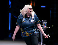 Kirsty Hutchinson during the BDO World Professional Championships at the O2 Arena, London, United Kingdom on 5 January 2020.