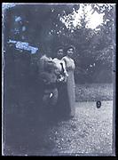 family in garden France ca 1920s