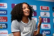 Nafissatou Thiam (BEL) during press conference of Meeting de Paris 2018, Diamond League, at Hotel Marriott, in Paris, France, on June 29, 2018 - Photo Jean-Marie Hervio / KMSP / ProSportsImages / DPPI