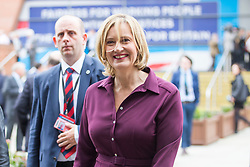 © Licensed to London News Pictures. 03/10/2017. Manchester UK. Home Secretary AMBER RUDD today ahead of Boris Johnson's speech to the Conservative Party Conference this afternoon in Manchester. Photo credit: Andrew McCaren/LNP
