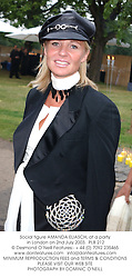 Social figure AMANDA ELIASCH, at a party in London on 2nd July 2003. PLB 212