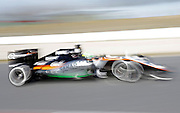 March 1, 2016 - Barcelona, Spain - <br /> <br /> BARCELONA -march 01- SPAIN: Nico Hulkenberg and Force India during the F1 tests in the Barcelona-Catalunya Circuit, on march 01, 2016. <br /> ©Exclusivepix Media