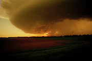 A storm formation in Tornado Alley, Oklahoma, USA
