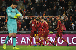 December 26, 2018 - Rome, Italy - Patrick Schick with teammates of AS Roma celebrates after scoring the team's second goal from penalty spot during the Serie A match between AS Roma and US Sassuolo at Stadio Olimpico on December 26, 2018 in Rome, Italy. (Credit Image: © Federica Roselli/NurPhoto via ZUMA Press)