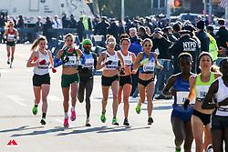chase group, women,<br /> Steyn, Groner, Landau<br /> TCS New York City Marathon 2019