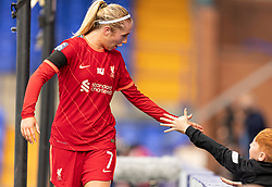 BIRKENHEAD, ENGLAND - Sunday, August 29, 2021: Liverpool's Missy Bo Kearns during the FA Women's Championship game between Liverpool FC Women and London City Lionesses FC at Prenton Park. London City won 1-0. (Pic by Paul Currie/Propaganda)