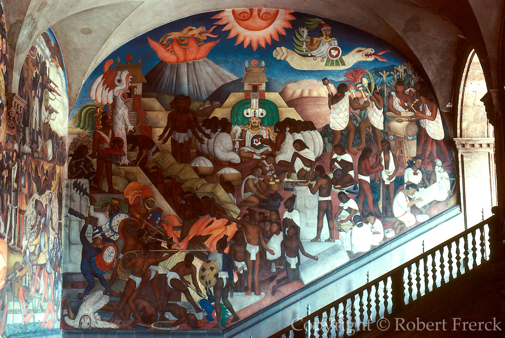 MEXICO, MEXICO CITY, MURAL Rivera's Legend of Quetzalcoatl