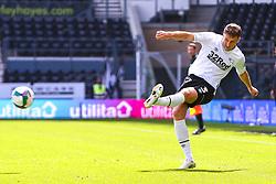 Craig Forsyth of Derby County puts in a cross - Mandatory by-line: Ryan Crockett/JMP - 05/09/2020 - FOOTBALL - Pride Park Stadium - Derby, England - Derby County v Barrow - Carabao Cup