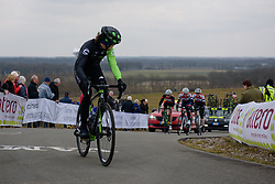 Marcella Toldi checks back on the VAMberg at Drentse 8 van Westerveld 2018 - a 142 km road race on March 9, 2018, in Dwingeloo, Netherlands. (Photo by Sean Robinson/Velofocus.com)