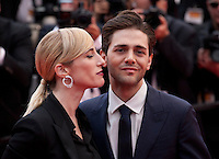 Nancy Grant and director Xavier Dolan at the Closing Palm D'Or Awards Ceremony at the 69th Cannes Film Festival, Sunday 22nd May 2016, Cannes, France. Photography: Doreen Kennedy