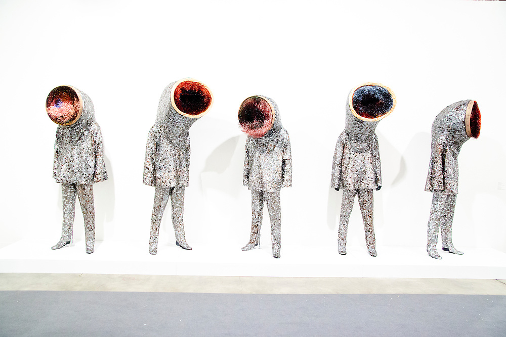 """""""Soundsuit"""" by Nick Cave at the Jack Shainman Gallery's booth at Art Basel Miami Beach 2010"""