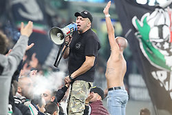 November 7, 2018 - Turin, Piedmont, Italy - Fans of Juventus FC during the UEFA Champions League match between Juventus FC and Manchester United FC,  at Allianz Stadium on November 07, 2018 in Turin, Italy..Juventus FC lost 1-2 against Manchester United. (Credit Image: © Massimiliano Ferraro/NurPhoto via ZUMA Press)